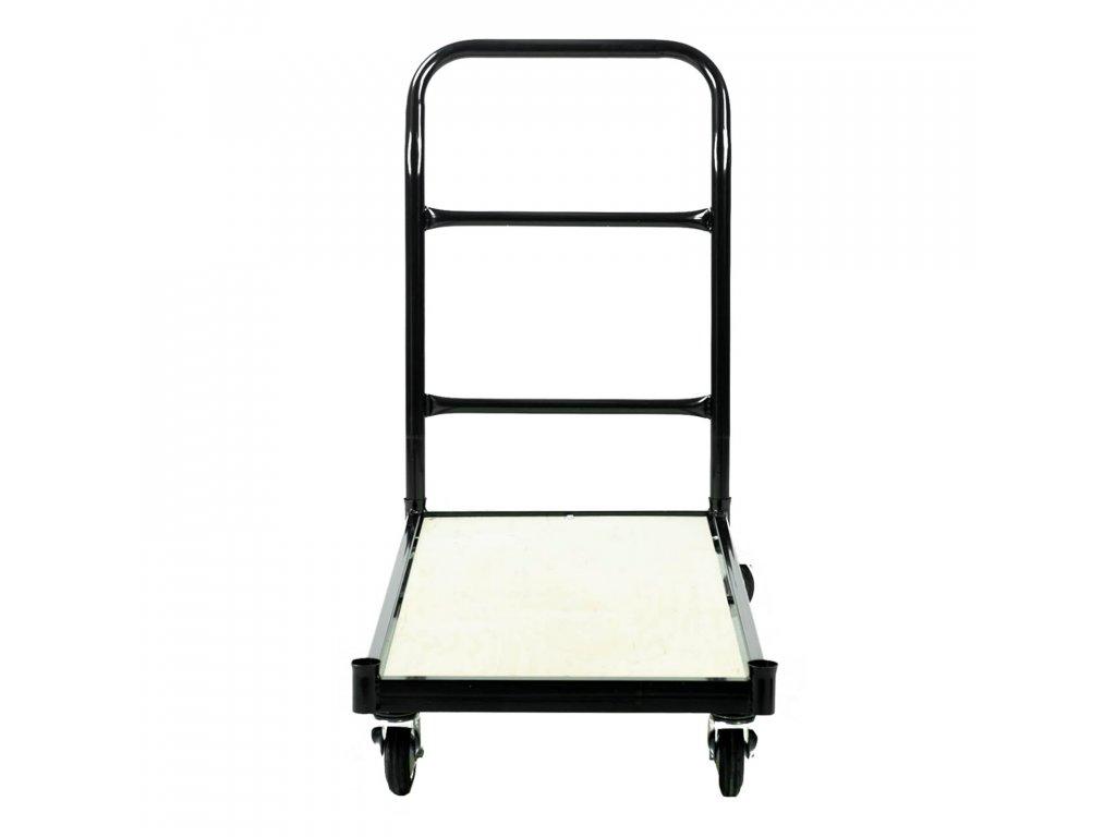 Skladový vozík s nosnosťou 250 kg s brzdou - ČIERNY