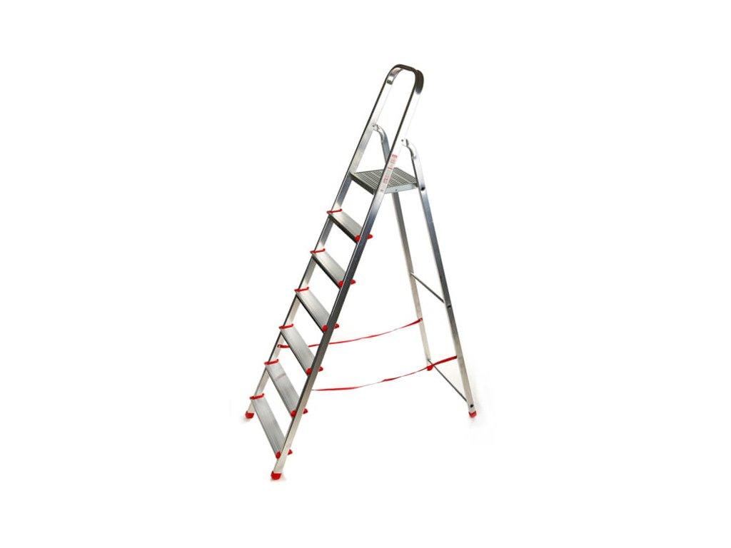 PROFI jednostranné schodíky 7 stupňov, pracovná výška 3,4m, ALOSS