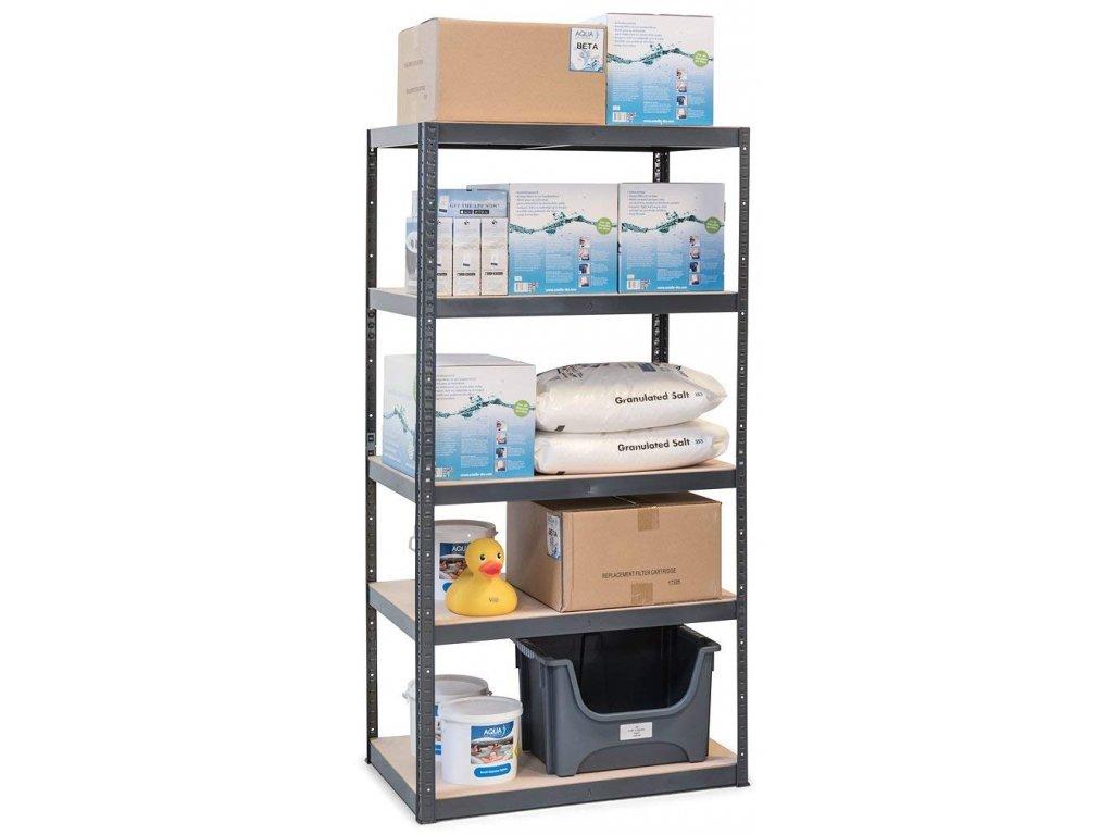 !!! Akčný balíček: 5x regál 2000x1000x600mm lakovaný  5-policový, nosnosť 875 kg