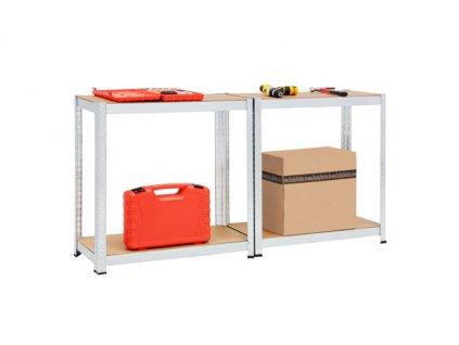AKCIA: Regál 1800x900x300mm zinkovaný 4-policový, nosnosť 700 kg
