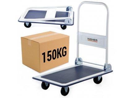 Prepravný skladový vozík plošinový 150 kg