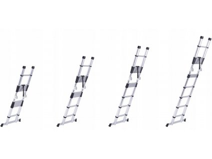 PROFI teleskopický rebrík 2x7, pracovná výška 5,7 m