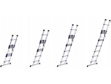 Teleskopický rebrík 2x7 (4,4 m) + vak