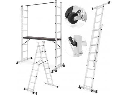 Rebrík hliníkové lešenie 2x8