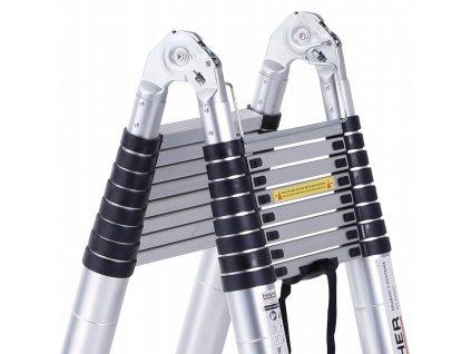 PROFI teleskopický rebrík 2x8, pracovná výška 6,3m