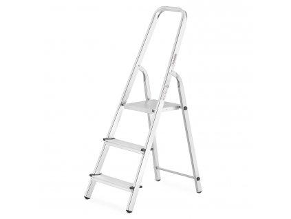PROFI jednostranné schodíky 3 stupne, pracovná výška 2,7m