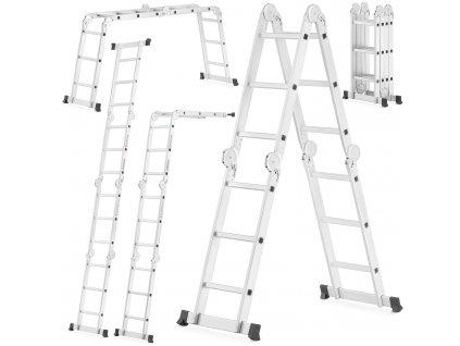 Hliníkový kĺbový rebrík 4x3