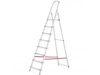 PROFI jednostranné schodíky 8 stupňov, pracovná výška 3,6m