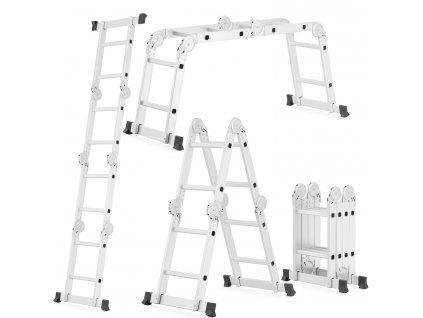 Wielofunkcyjna drabina aluminiowa przegubowa HIGHER 4x2