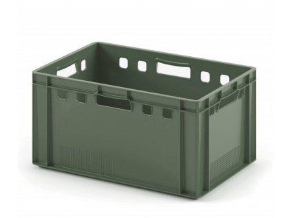 9991 3 prepravka na maso 60 x 40 x 30 cm zelena