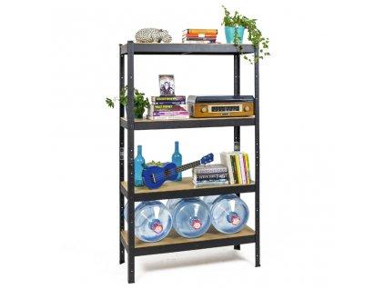 !!! Akčný balíček: 10x regál 1600x800x400mm lakovaný  4-policový, nosnosť 700 kg