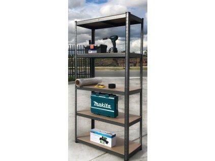 !!! Akčný balíček: 3x regál 2000x1000x600mm lakovaný  5-policový, nosnosť 875 kg