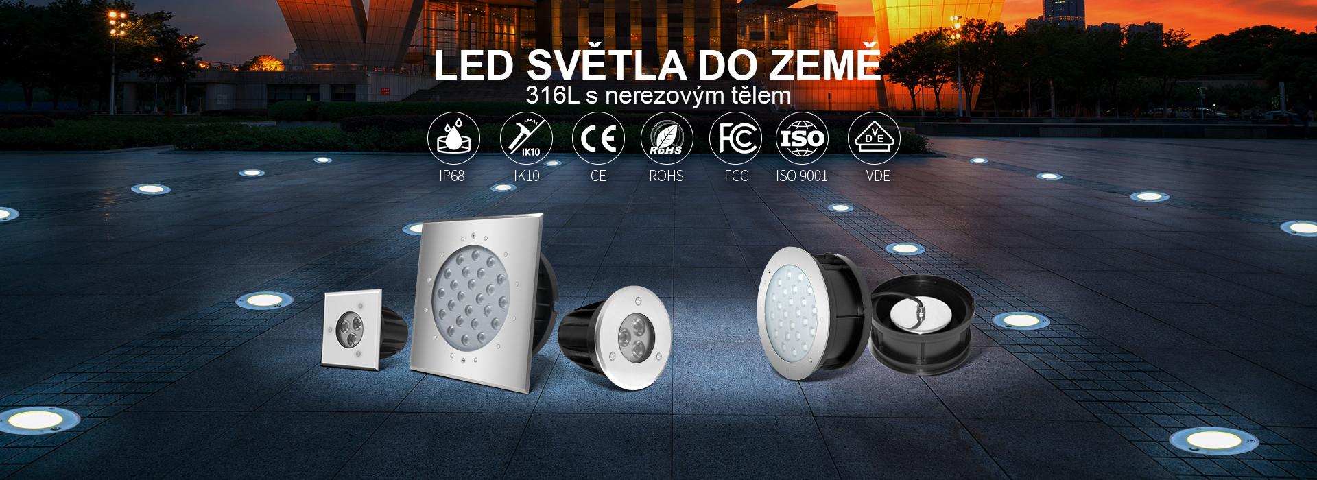 Zahradní a zápustná LED světla do země
