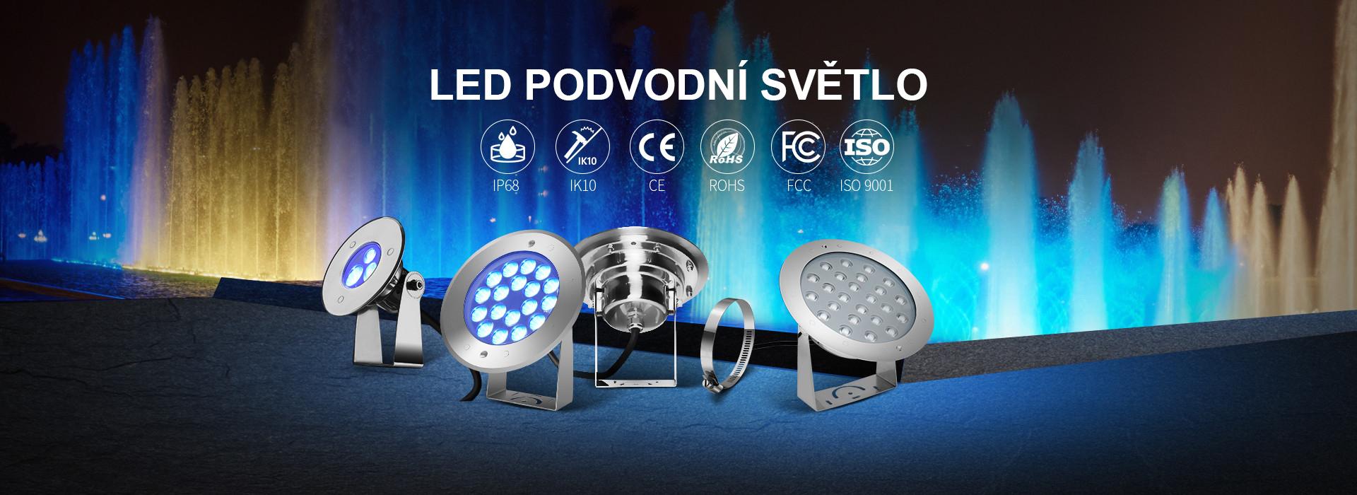 Náklopná LED svítidla pro fontány