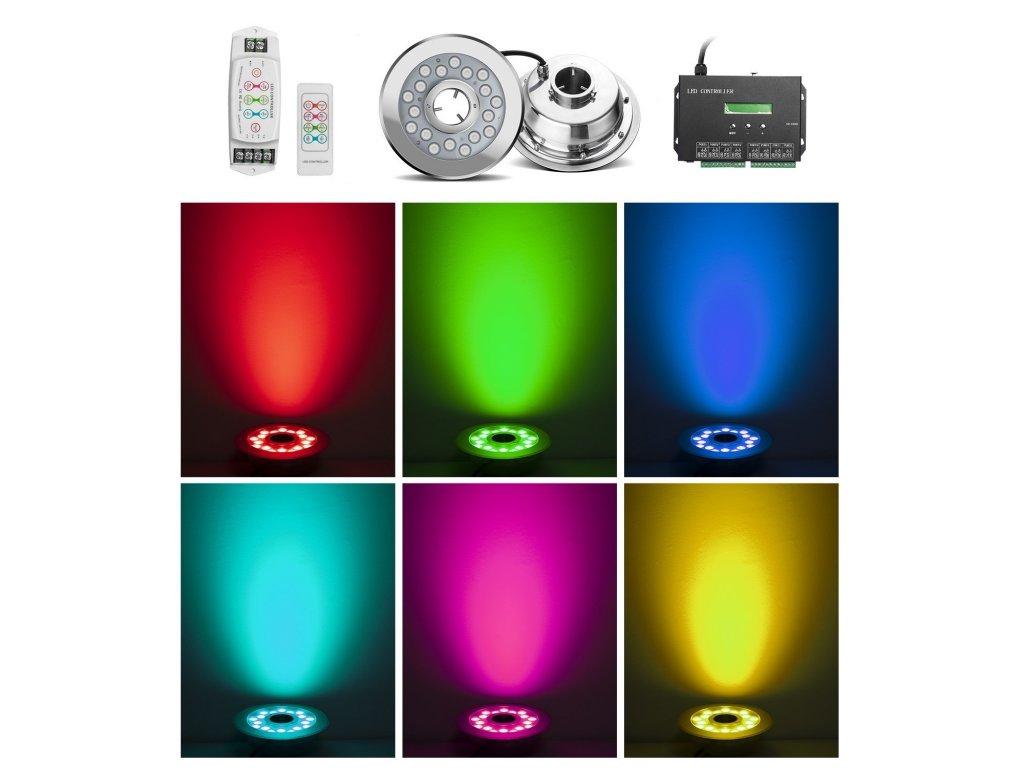 Fontánové LED světlo na trysku 24W RGB