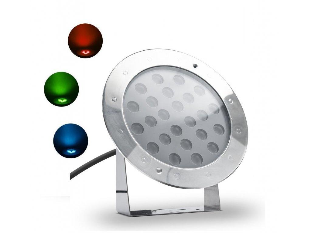 Fontánové LED světlo náklopné 24W RGB