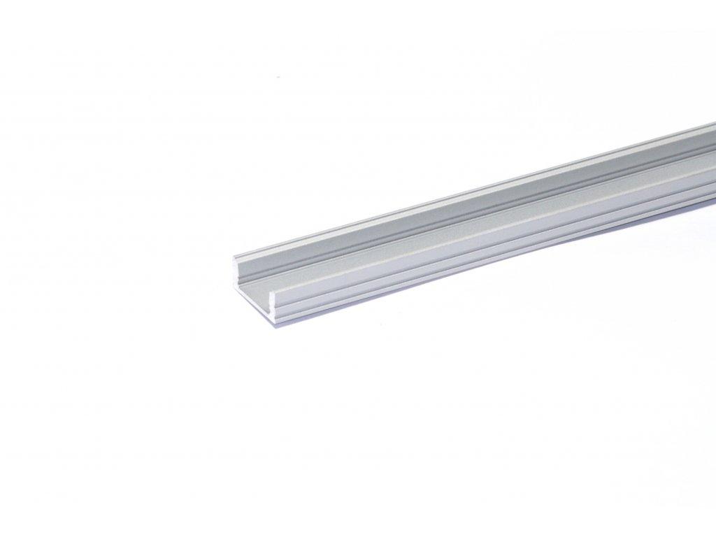 3333 3 hlinikovy profil pro led pasky ne flat2 hm delka 2m ks eloxovany hlinik