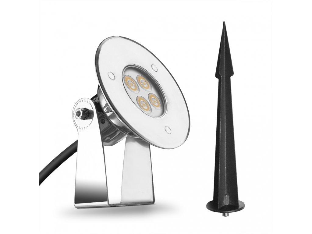 Zahradní LED světlo se zapichovacím trnem 5W 24V