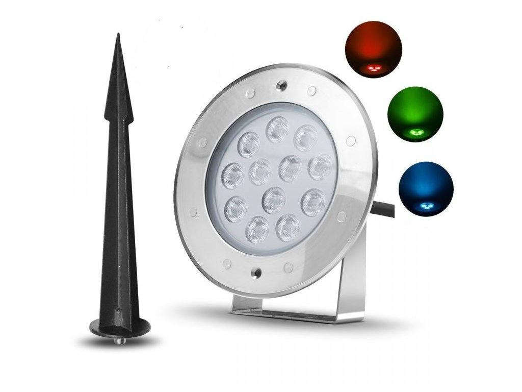 Zahradní LED světlo se zapichovacím trnem 9W RGB 24V