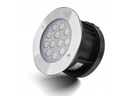 Zápustné zahradní LED světlo do země, kulaté 9W 24V