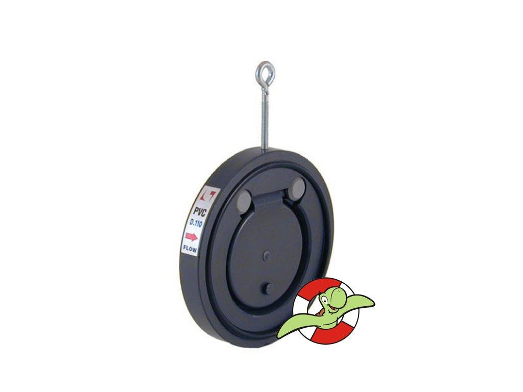 Mezipřírubová zpětná klapka s těsněním EPDM, D110
