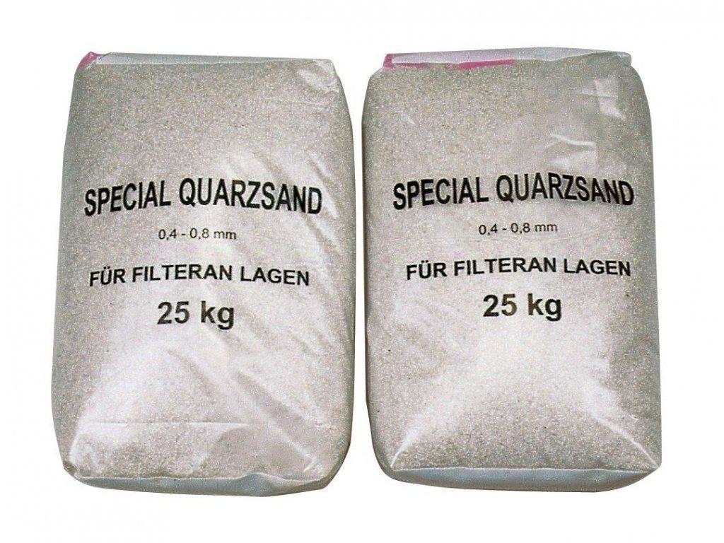 Filtrační písek zrnitosti 0,6-1,2mm