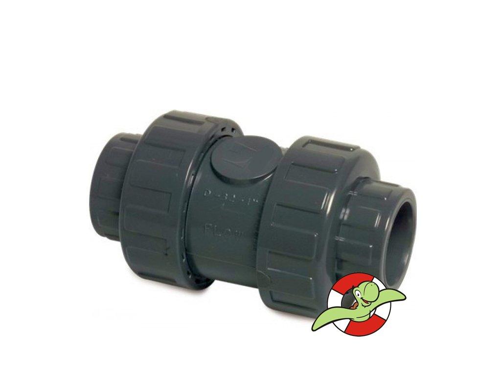 Zpětný ventil s těsněním PE-EDPM, D50