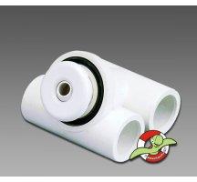 Hydromasážní MICRO tryska s přisáváním vzduchu, bílá
