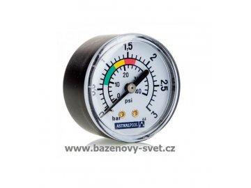 Manometr s T-kusem a odvzušňovacím ventilkem, boční závit