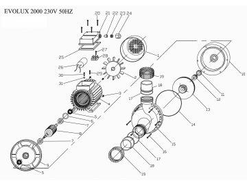 Masážní čerpadlo EVOLUX 1000