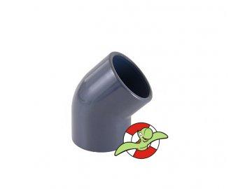 Koleno 45˚, lepení-lepení, 90mm