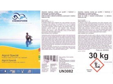 Algicid Speciál 30kg, nepěnivý protiřasový přípravek