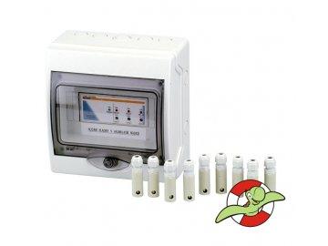 Elektronické hlídání hladiny v akumulační jímce - automatika v rozvaděči