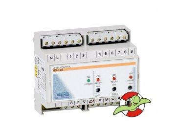 Elektronické hlídání hladiny v akumulační jímce - montáž na DIN lištu