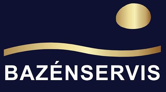 Bazenservis_Logo_modro_zlate_W