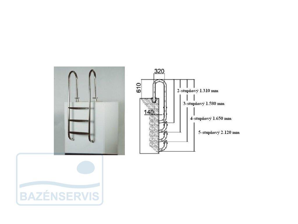 Garda V2A - rebrík do bazénu