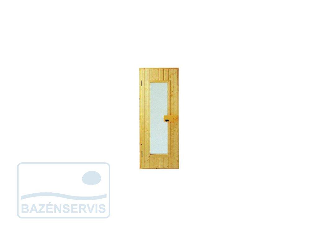 Saunové dvere s oknom