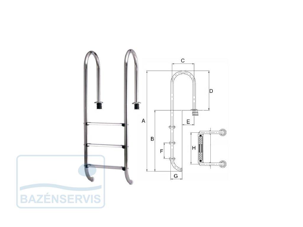 MURO - Rebrík do bazénu  - nerez kvalita V2A