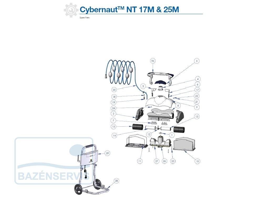 Cybernaut - náhradné čierne čistiace kefy