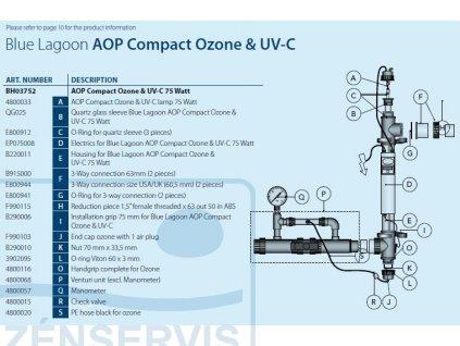 NAHRADNE DIELY NA UV LAMPU OZON