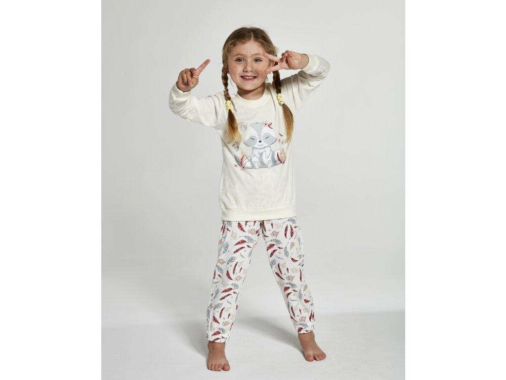 Dívčí pyžamko s dlouhým rukávem Cornette 594/121, 973/125