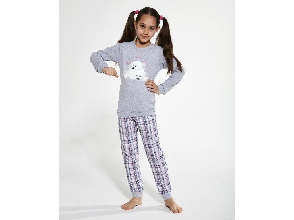 Dívří pyžamko s dlouhým rukávem Cornette 594/132