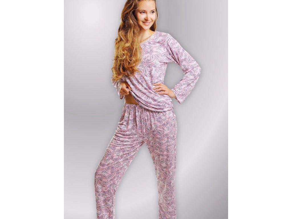 Dlouhé pyžamo Linia Emily ornament