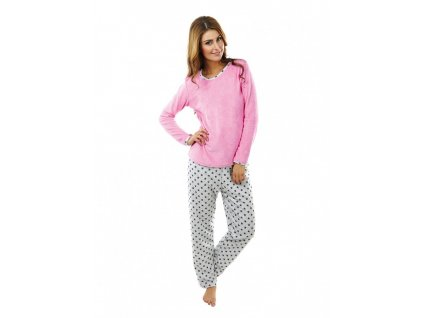 Dámské froté pyžamo s hvězdičkami Evona P1422