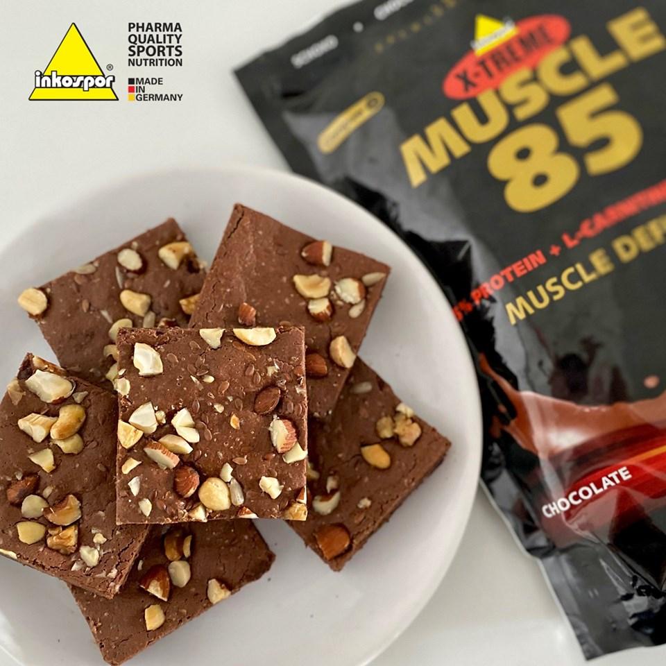Recept   proteinové čokoládové brownies bez lepku