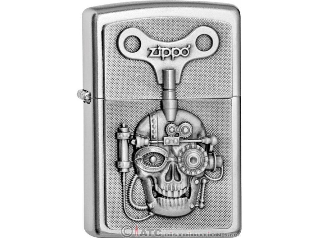 Zapalovač Zippo 20416 MECHANICALLY SKULL