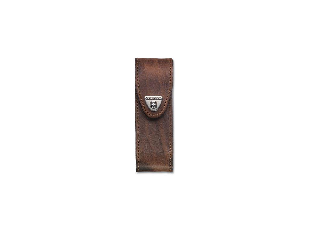 Hnědé kožené pouzdro na nože 111mm - do šesti vrstev želízek (4.0548)