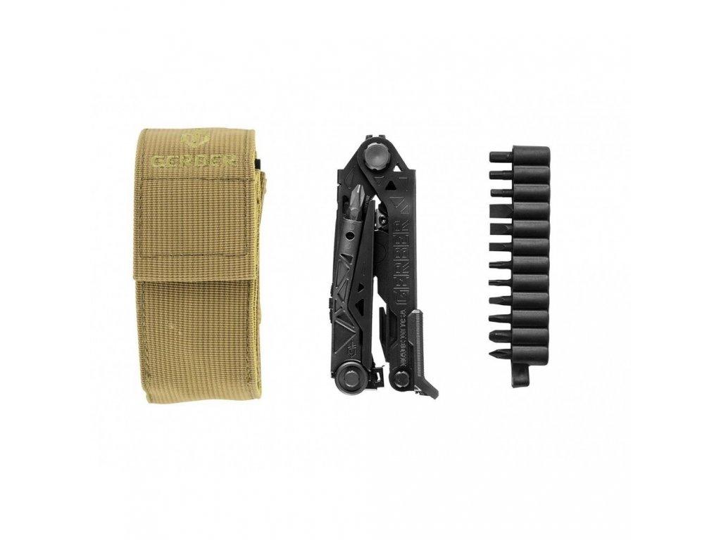 Multifunkční kleště Gerber Center-Drive, černé, s bity, nylonové pouzdro, box