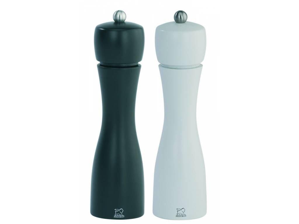 PEUGEOT TAHITI set mlýnek na pepř a sůl 20 cm černý / bílý
