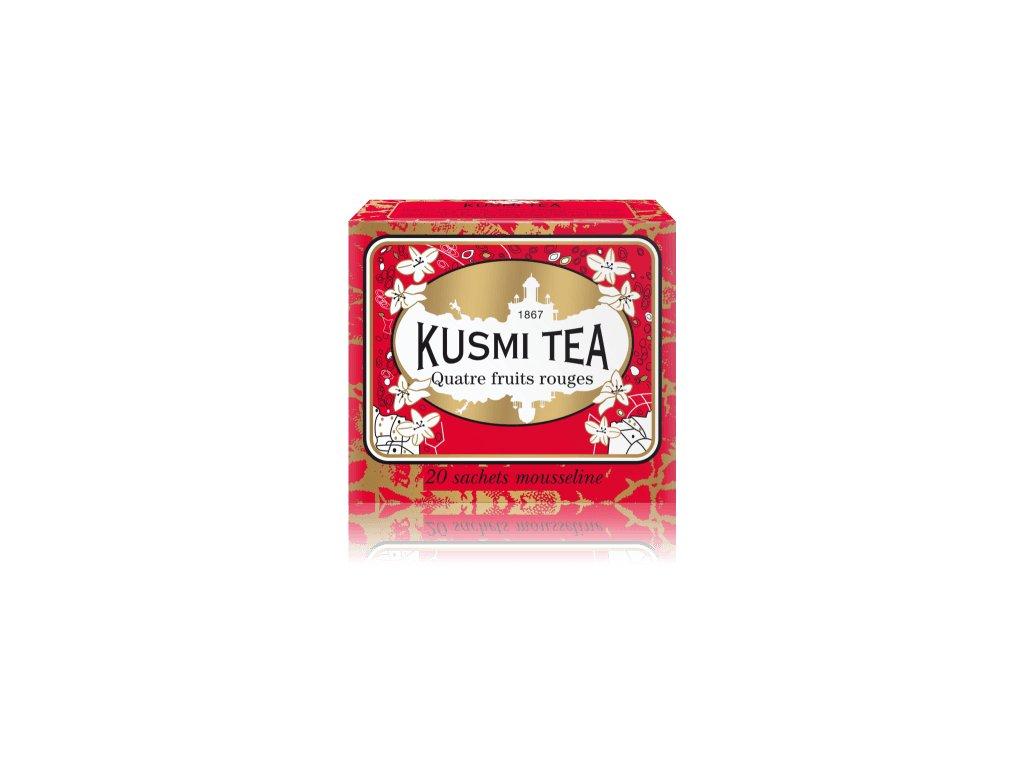 Kusmi Tea Four Red Fruits, 20 mušelínových sáčků 44g